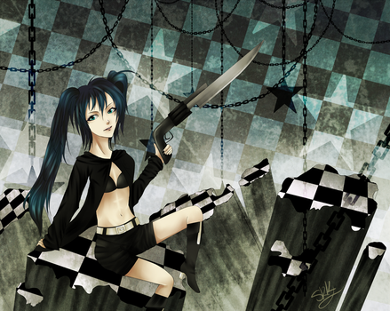 Black rock shooter by SuupaaRabito