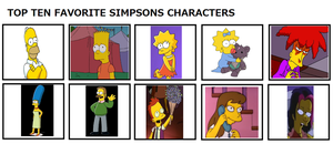 Top 10 Favorite the Simpson Characters by Dragonprince18