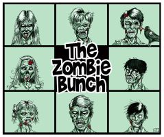 The Zombie Bunch by Jeff-Drylewicz