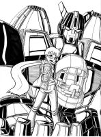 Super Robot and pilot by RedShoulder