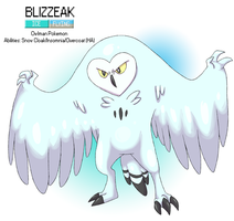Pokemon Albion Region: #??? Blizzeak by sweetkimothy