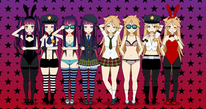 Panty and Stocking - Outfits by Xx-Chellie-Bellie-xX