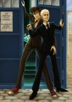 The Master in the TARDIS by Silarcta