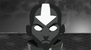 Aang in the Avatar State by CigsAce