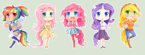 MLP Chibis by Elfany-Chan