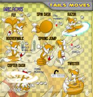 S Beyond_Tails basic moves by XAMOEL