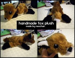 fox plush by Vaccinekiss
