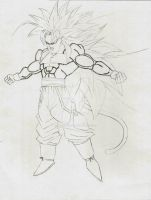 Goku from NEW AGE Super Saiyan 5 sketch by DavidsKovach