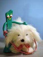Gumby's New Dog by prancingdeer722