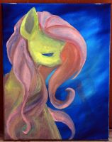 Painting fluttershy (WIP) by kprovido