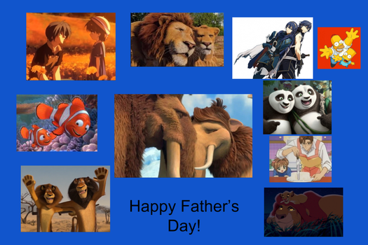 Happy Fathers Day Collage by Willy276