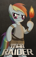 Tomb Raider Rainbow Dash by drawponies