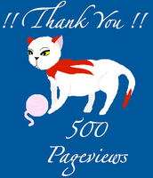 500 PAGEVIEWS by Nin-Nekokat