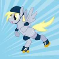 Roller Derpy by Amkita