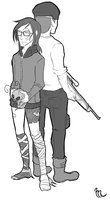 Radio and Boone by Mikkynga