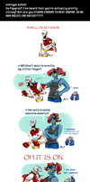 Undertale ask blog: arm wrestling by bPAVLICA