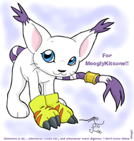 Gatomon for MooglyKitsune by tagness