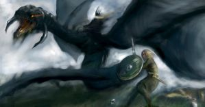 Eowyn and the Nazgul (2013) by linfa