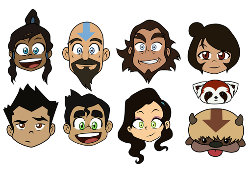 Legend of Korra - Character Heads by SpectacularAna