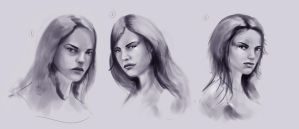 Female Faces by JoshSummana