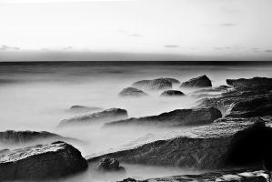 Rocks on the Shore by FromTheI