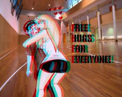 Free Hugs For Everyone 3-D by ImfamousE