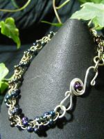 Color Shift Purple Shaggy Loops With Fancy Clasp by BacktoEarthCreations