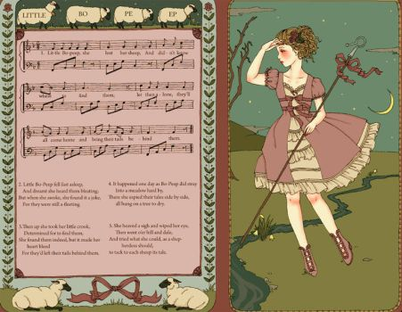 Little bo-peep w. music score by DarkDevi