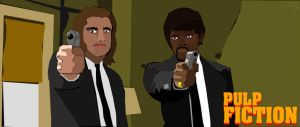 Pulp Fiction Vector by djoker2k2