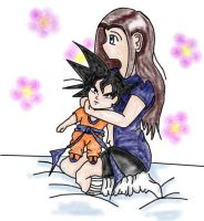 Goku Huggles coloured by rainetomoe