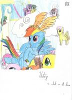MLP Victory sketch (crayon) by PnFink