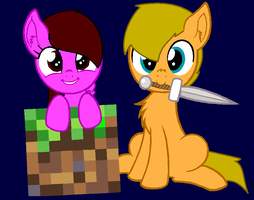 MLP Enya e Ale in Minecraft by EnyatheAngelFox