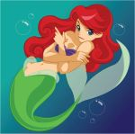 Red hair mermaid by Jotamora