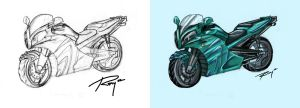 Motorcycle Design by Drawingremy