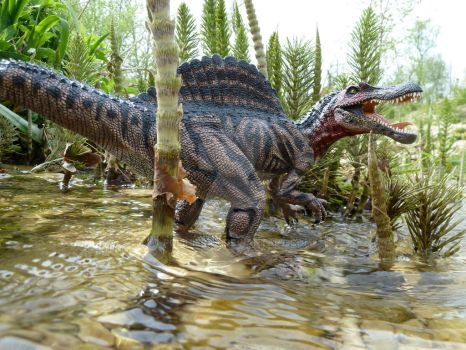 Spinosaurus, Papo, repainted by Polihierax