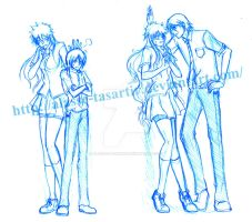 IchiRuki - Height Differences by Alasse-Tasartir