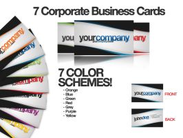 7 Corporate Business Cards by tommyhanus