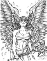 Golden Age Hawkgirl by CdubbArt
