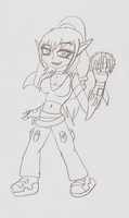 :Doodle of the day: another Tiera by XenomorphSangheili