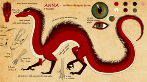 Anna as eastern dragoness - reference by VixenDra