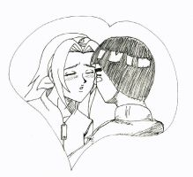 Sakura and Lee tentative Kiss by bishi