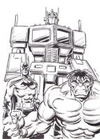 Prime, Batman and the Hulk.... by Simon-Williams-Art