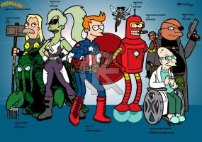 Futurama Meets Ultimate Marvel by kameleon84