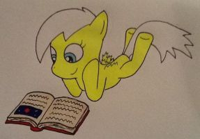 Lemon Reading a Book by ArtKing3000
