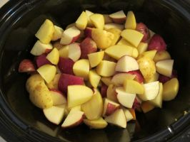 Chopped Red and Yellow Potatoes by Windthin