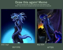 Draw this again meme princess luna by DLowell