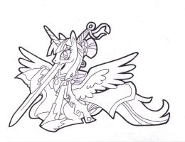 Portrait of a Princess. Twilight Sparkle, Inked by FoldawayWings