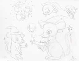 Rattie sketchies for tuffhoss by Ewy-chan