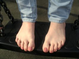 Candid- Close up Toes by Foxy-Feet