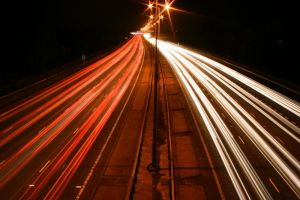 M25 Motorway Traffic Trails 1 by fruitycube